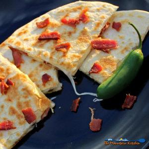 Bacon Cheese and Jalapeno Quesadillas