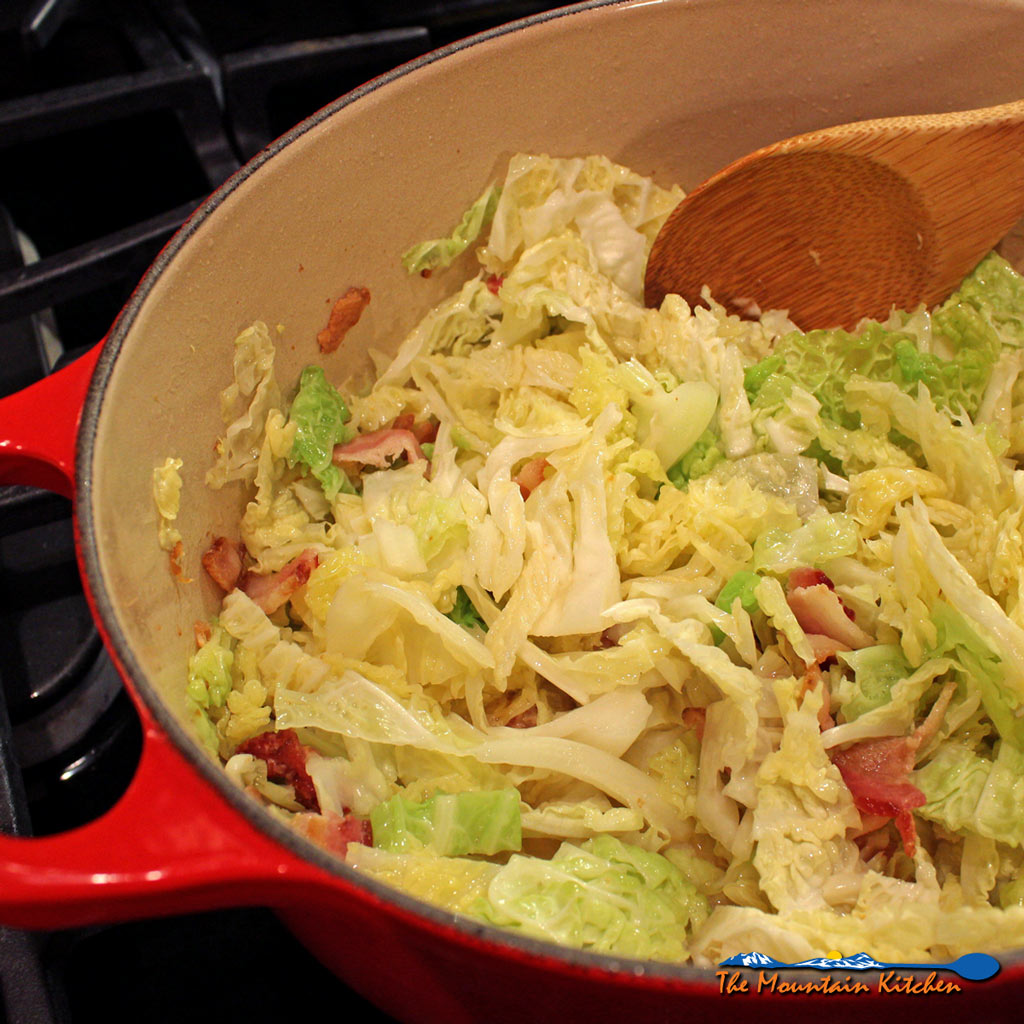 3-Ingredient Bacon-Fried Cabbage {An Unintentional St. Patrick's Day Post