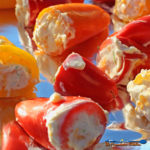 The filling for these zesty cheese stuffed mini peppers is made with two kinds of cheese, lime zest, lime juice, and spices. It's zesty, cheesy goodness! | TheMountainKitchen.com