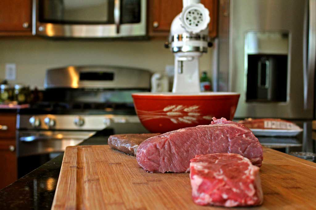 Grinding Hamburger Meat 101: The best part about grinding hamburger meat yourself is being able to have control over what goes into your hamburger meat. | TheMountainKitchen.com