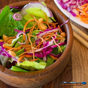 Crunchy Asian Chopped Salad With Honey Sesame Dressing {A Meatless Monday Recipe