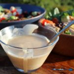 Incredibly good BBQ Ranch Dressing begins with creamy ranch dressing perfectly blended with tangy barbecue sauce, giving it a smoky, flavor-filled taste. | TheMountainKitchen.com