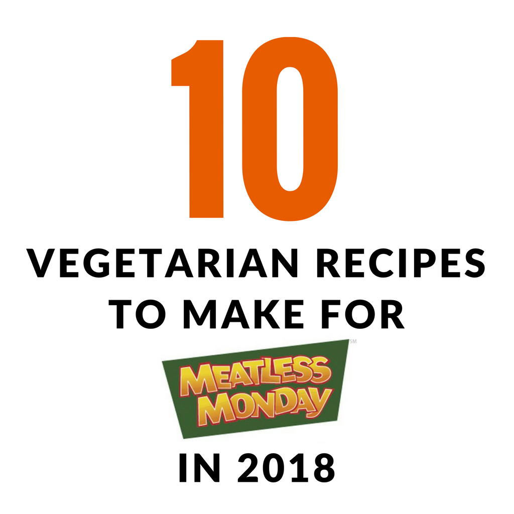 Are you are thinking about starting off 2018 by eating a little healthier?I am hoping with the help of these 10 vegetarian recipes I can convince you to go Meatless on Monday in 2018. Here are 10 vegetarian recipes to make for Meatless Monday in 2018!   TheMountainKitchen.com