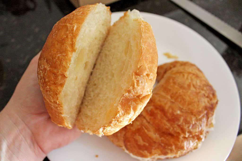 sliced croissant