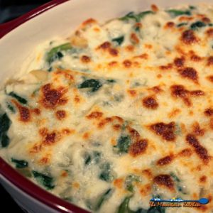 Low-Carb Cauliflower Creamed Spinach {A Meatless Monday Recipe