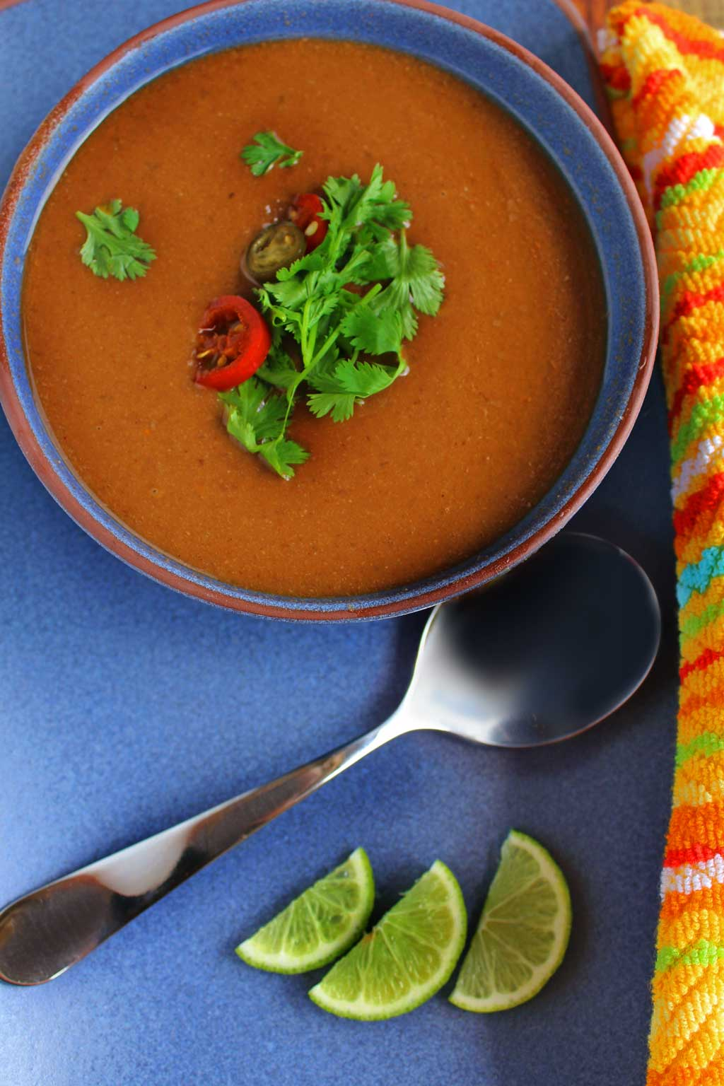 This healthy crock-pot black bean soup is packed with hearty plant-based protein, veggie, and spice and oh so easy to make, it practically makes itself. It's light on calories, high in fiber and easy on your wallet. A great recipe to try for Meatless Monday or any day of the week!