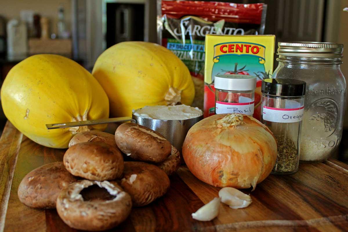 ingredients to make spaghetti squash