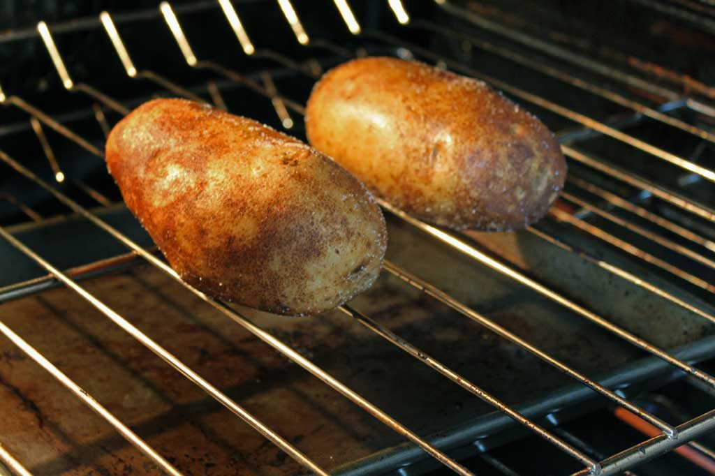 baking potatoes in oven
