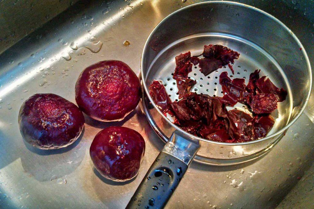 peeled roasted beets