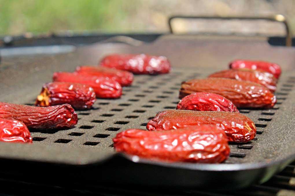 smoking chipotle peppers on smoker