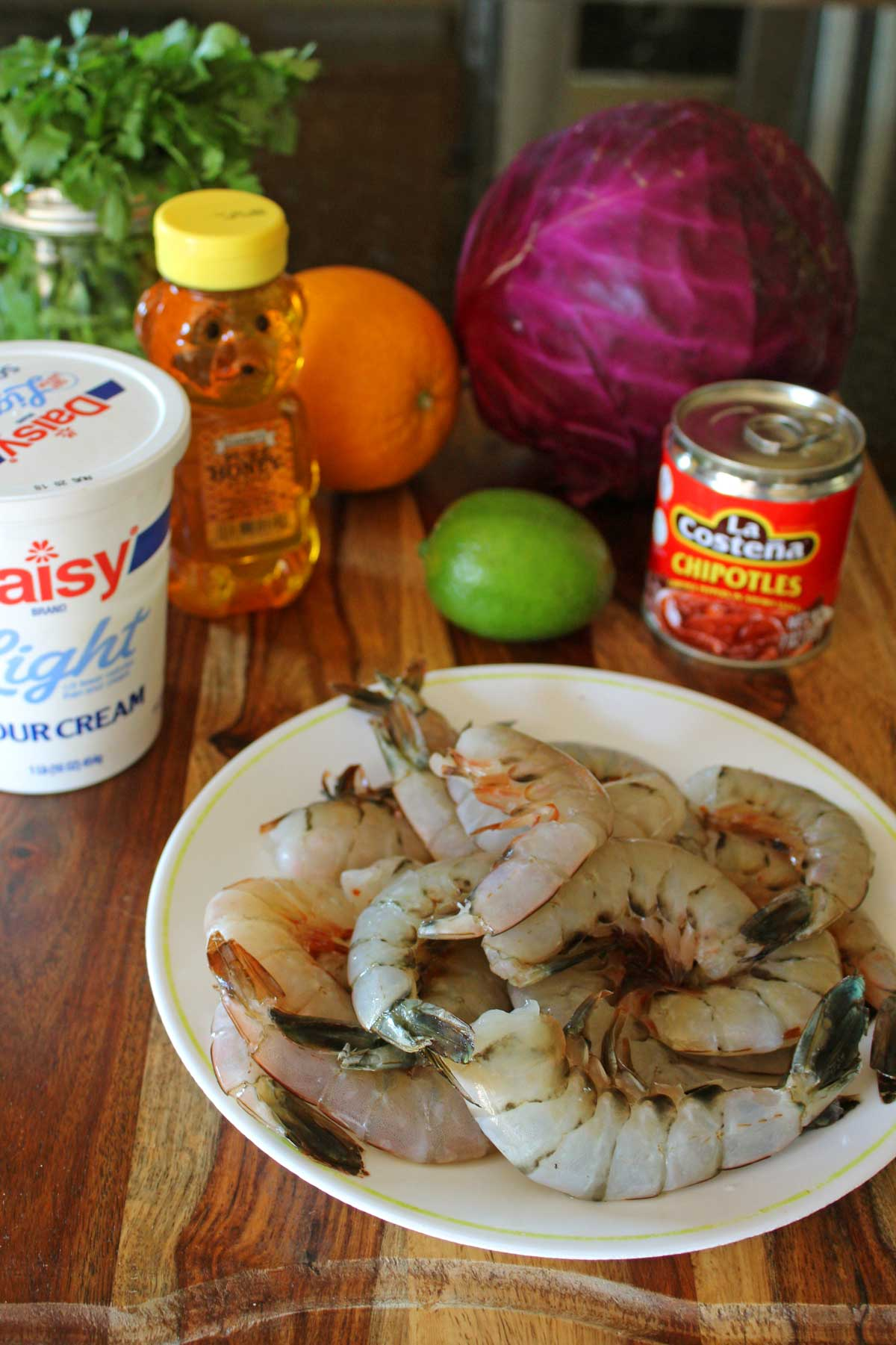 ingredients to make shrimp tacos