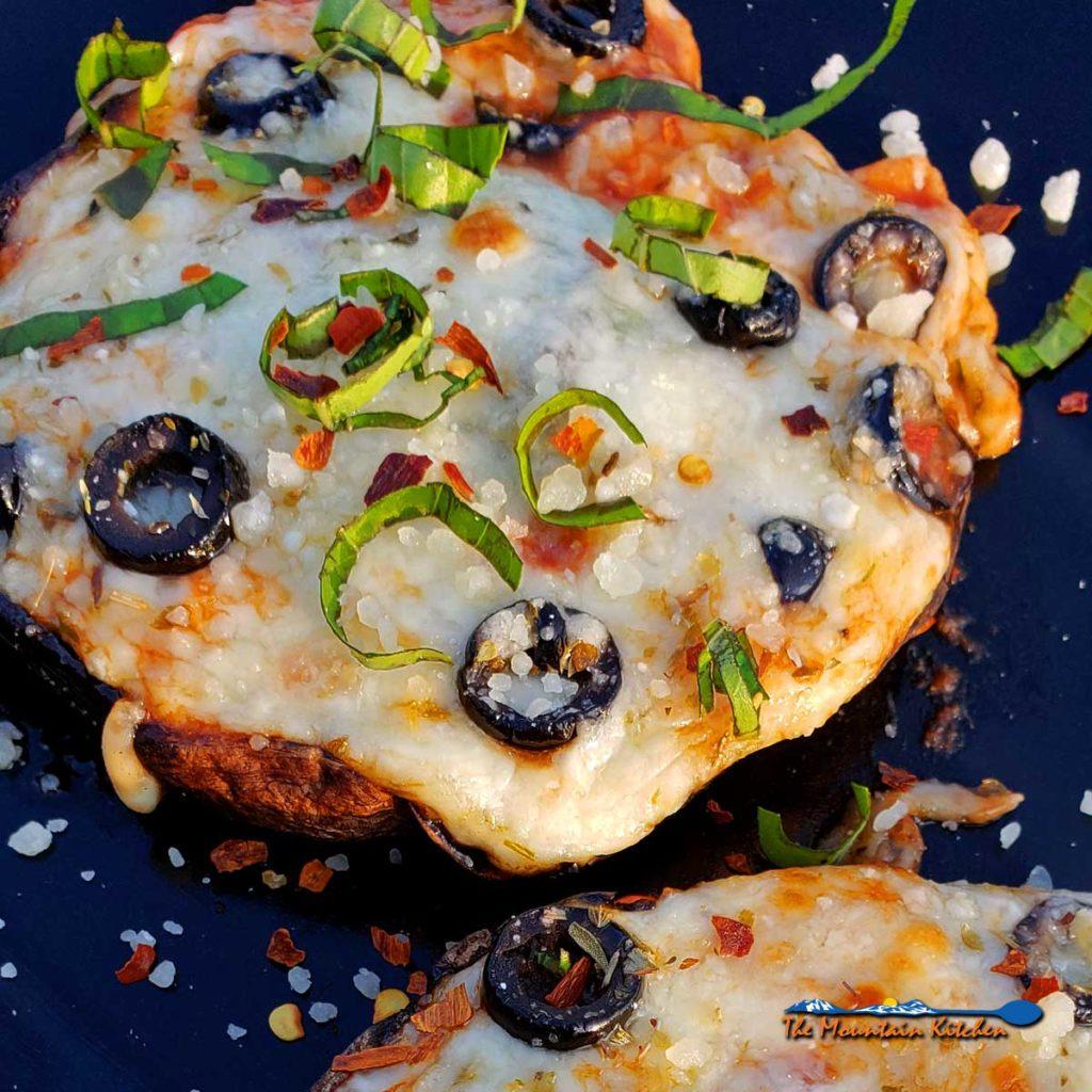 portobello mushroom cap pizzas