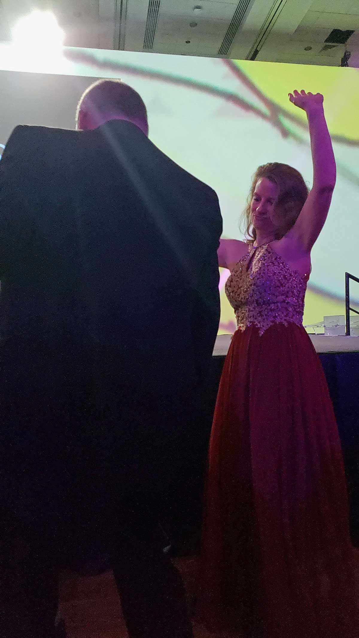 dancing at the gala