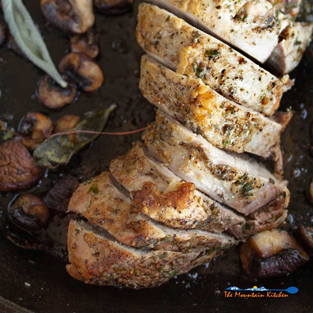Roasted Pork Tenderloin With Mushrooms Sage and Thyme