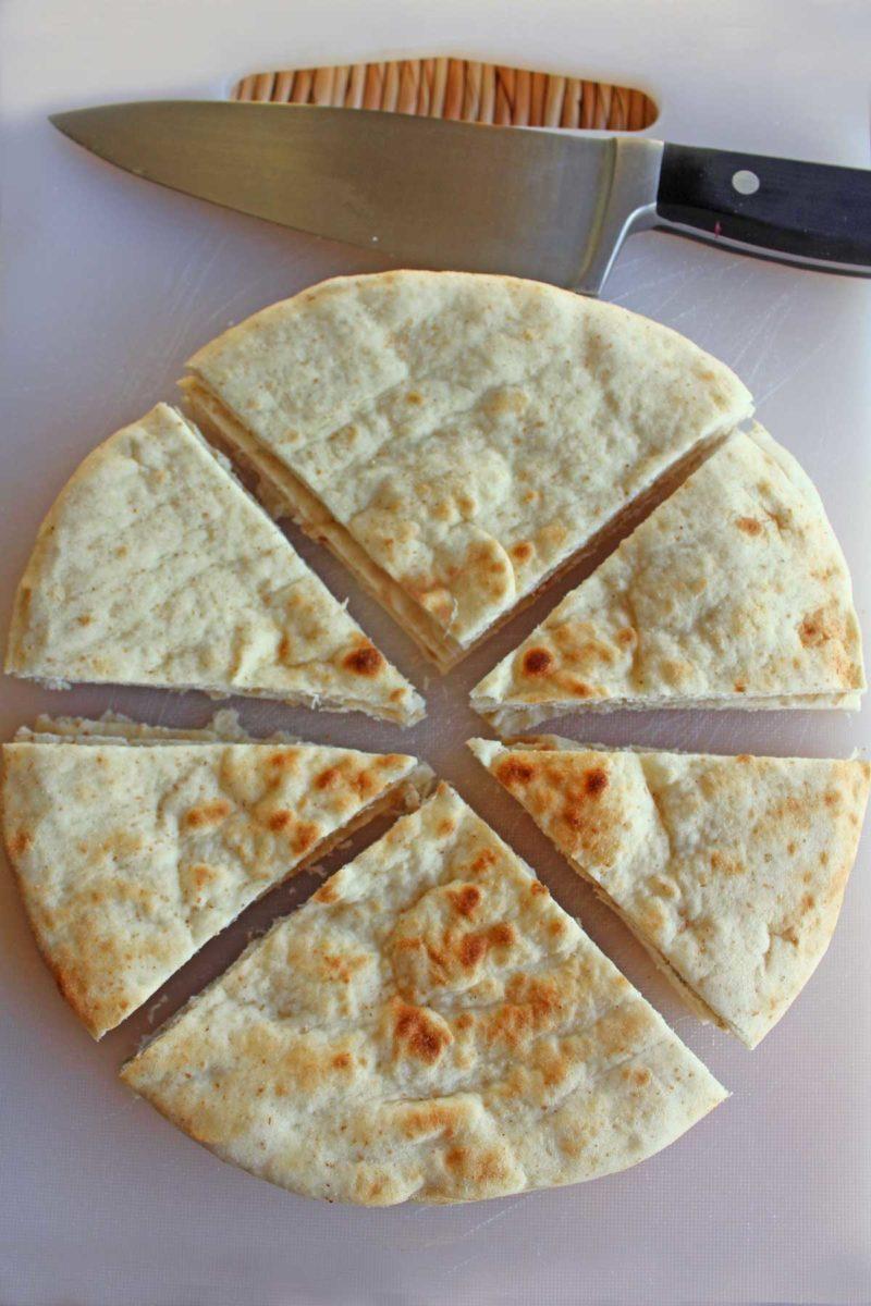 sliced pita bread