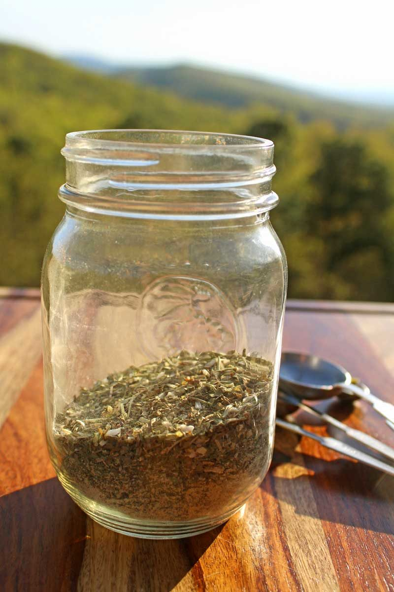 a jar of Greek seasoning