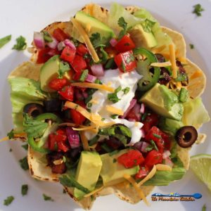 Vegetarian Taco Salad {A Meatless Monday Recipe