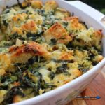 Vegetable strata in baking dish