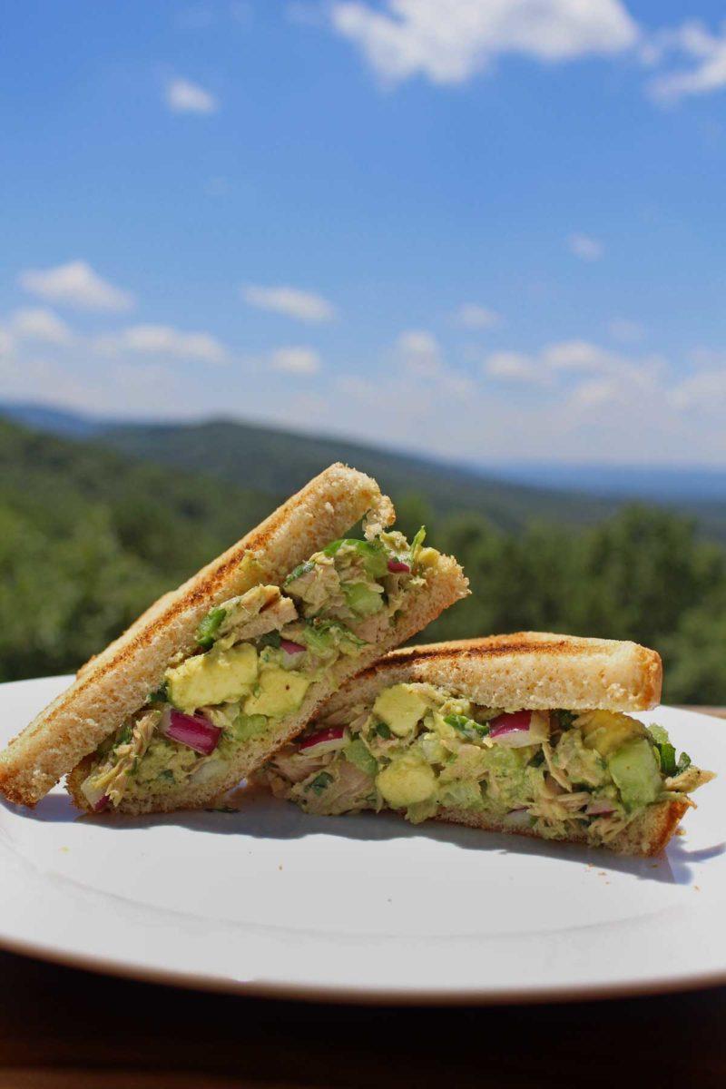 easy avocado tuna salad sandwich