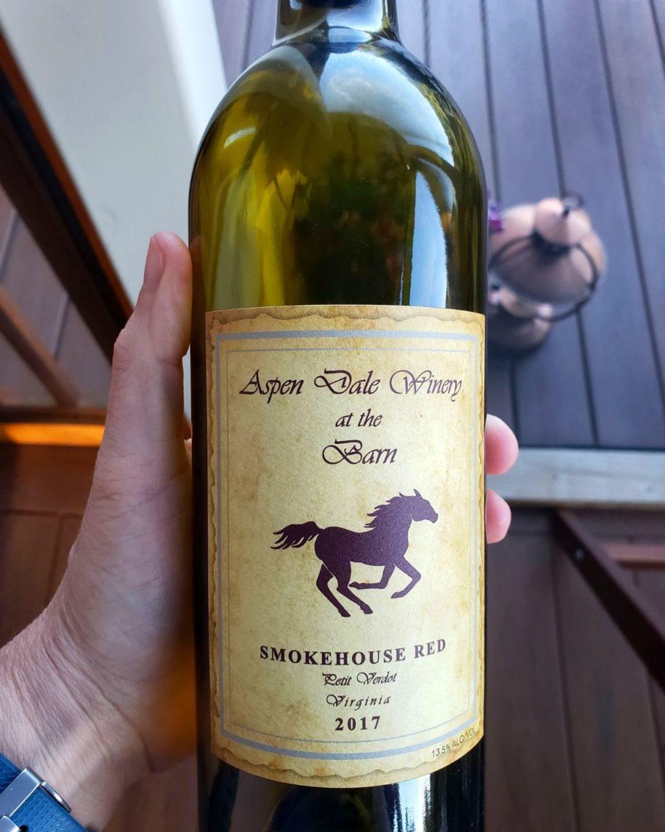 a bottle of wine from Aspen Dale