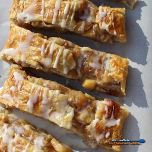 Caramel Apple Strudel With Vanilla Glaze