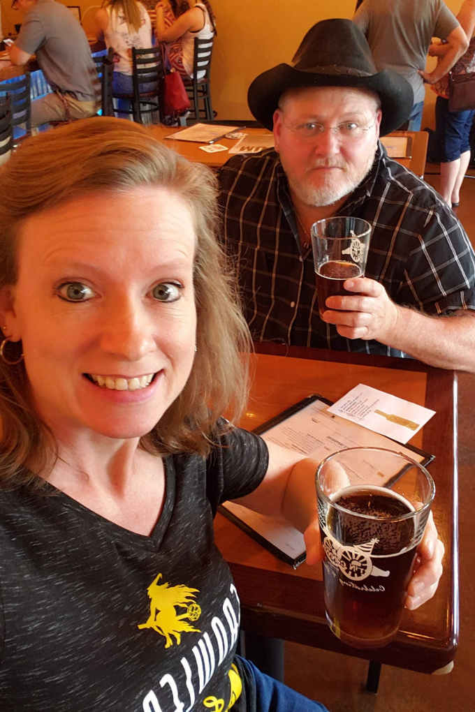 debbie and david at tin cannon brewery