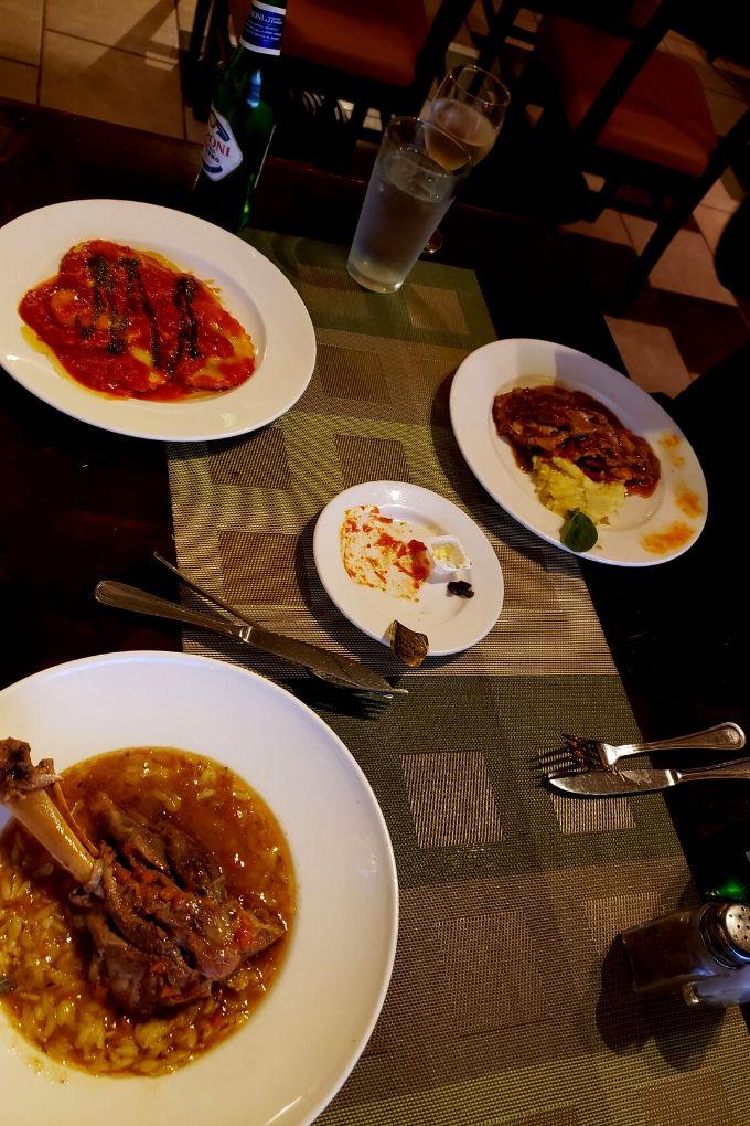 feasting on Italian food