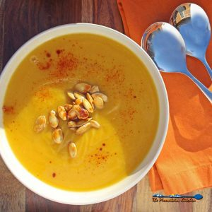 Pumpkin-Apple Soup {A Meatless Monday Recipe