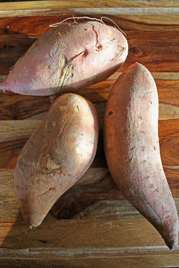 uncooked sweet potatoes
