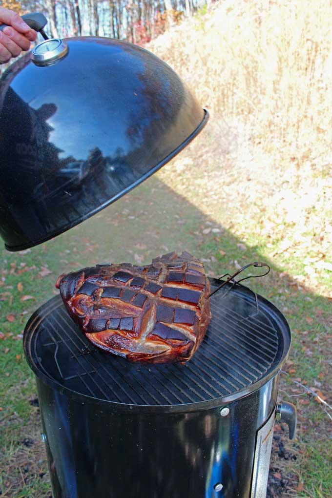 brined smoked pork shoulder