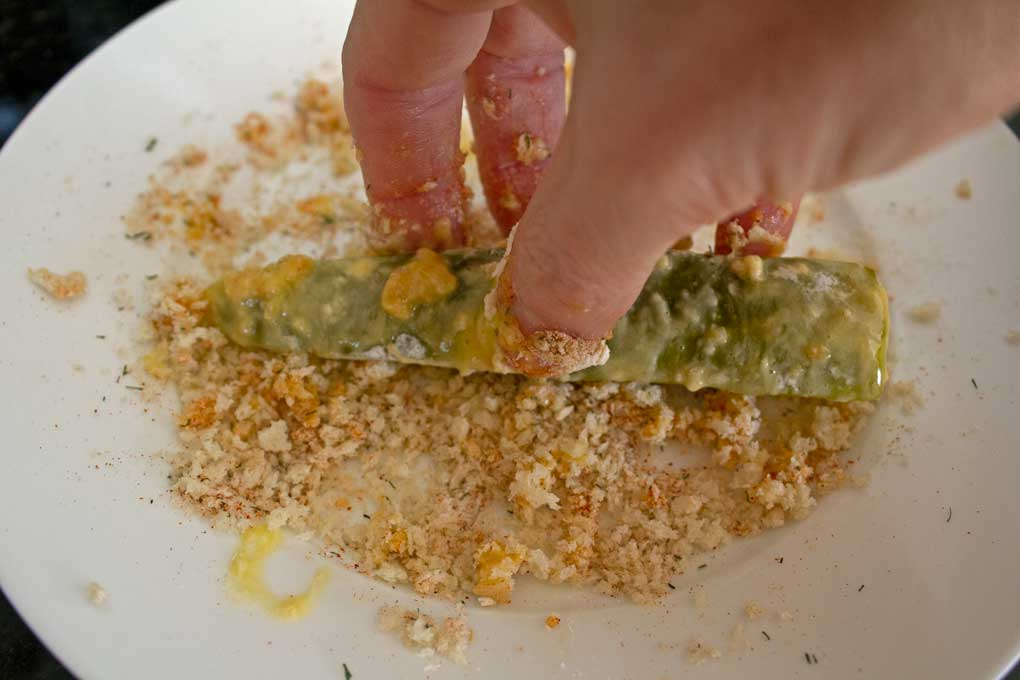 coating pickle with breading
