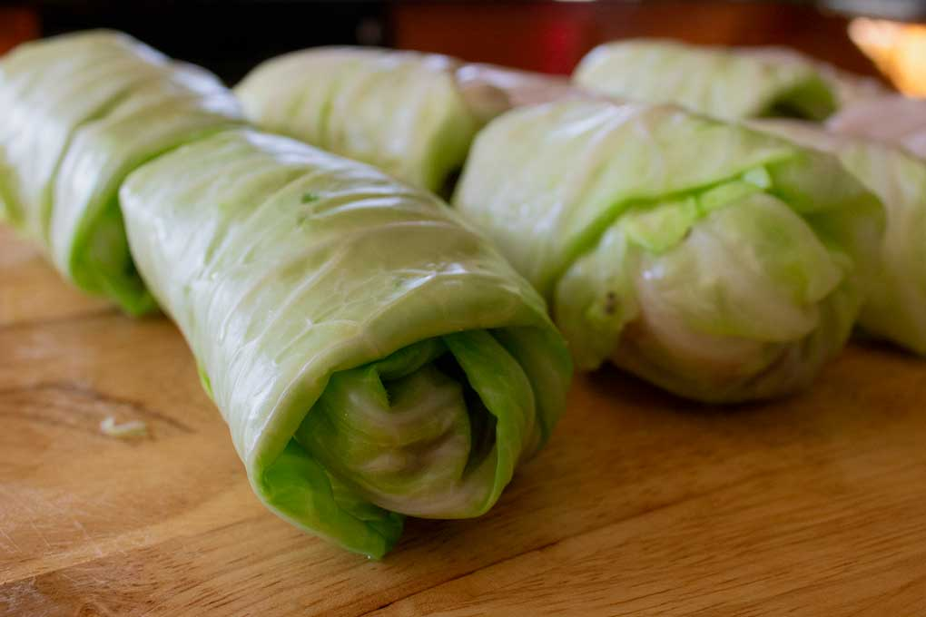 cabbage rolls ready to cook