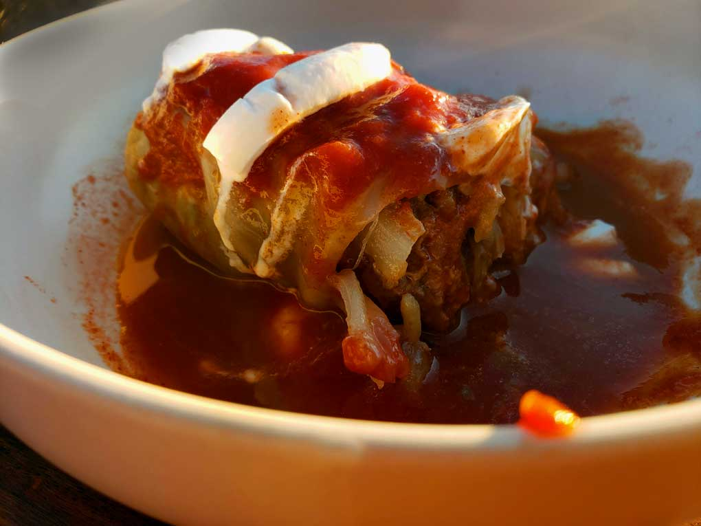 Stuffed Cabbage Roll in bowl
