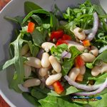 white bean arugula salad