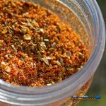 spicy dry rub in jar