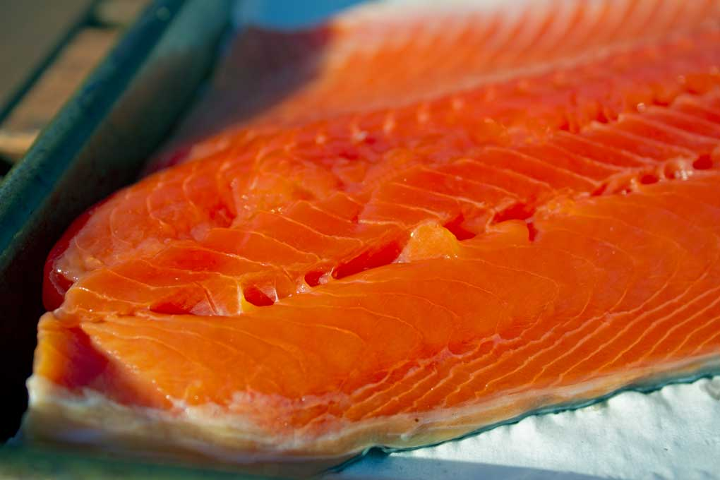 salmon fillet with pellicle