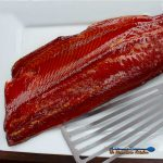 smoked salmon with honey glazed ready to eat