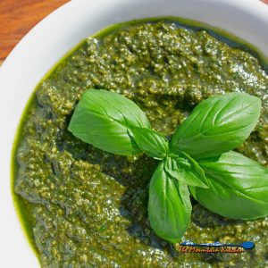 Fresh Pesto With Toasted Pine Nuts