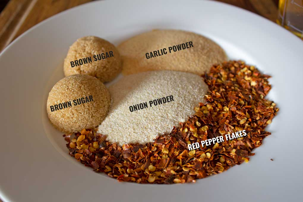 diagram of brine spices on plate