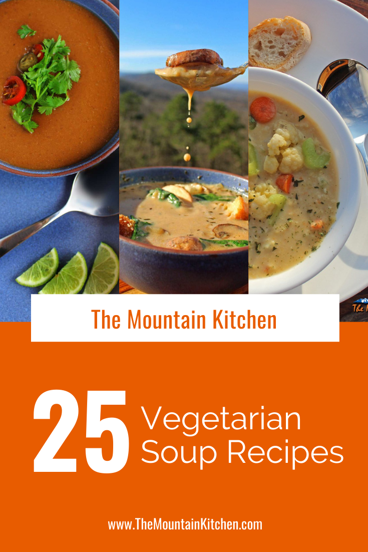 Soup season is here, so we have rounded up our 25 best vegetarian soup recipes for you to enjoy for Meatless Monday or any day of the week!