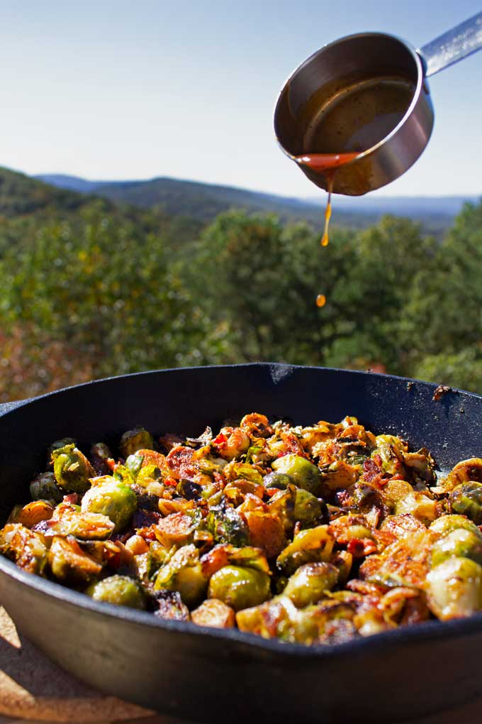 It only takes one bite of these grilled brussels sprouts with bacon and bbq sauce, to turn you into a brussels sprouts lover forever!