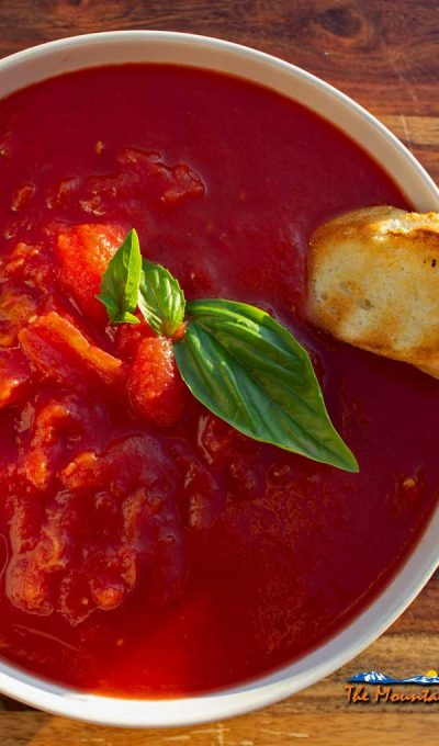 Grilled Tomato Soup With Grilled Toast