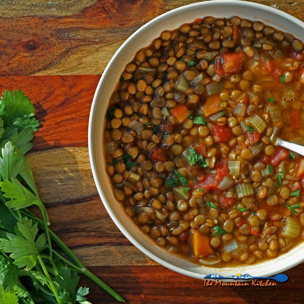 Easy Lentil Soup {A Meatless Monday Recipe